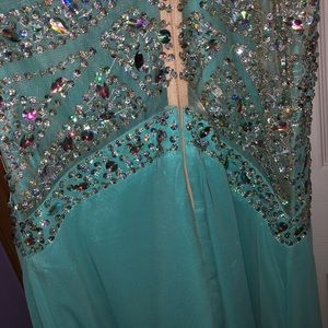 PromGirl Dresses - Turquoise prom dress